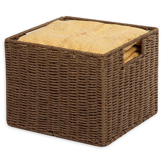 Alternate image 1 for Honey-Can-Do® Paper Rope 12-Inch x 13-Inch Storage Crate