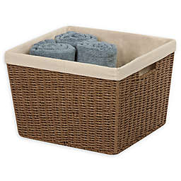 Honey-Can-Do® Paper Rope Shelf Baskets with Liners