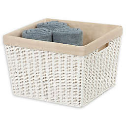 Honey-Can-Do® Large Paper Rope Shelf Basket with Liner in White