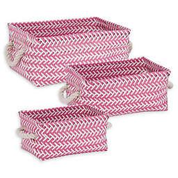 Honey-Can-Do® 3-Piece Zig Zag Woven Basket Set