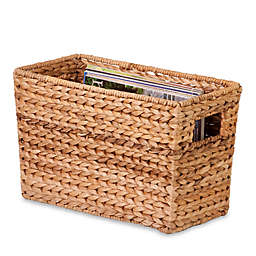 Honey-Can-Do® Large Woven Water Hyacinth Magazine Basket in Natural/Brown