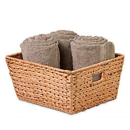 Honey-Can-Do® Large Woven Hyacinth Square Basket in Natural/Brown
