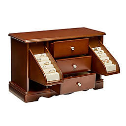 Mele & Co. Bancroft Wooden Jewelry Box in Walnut