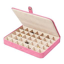 Mele & Co. Cameron Plush Fabric Jewelry Box in Pink