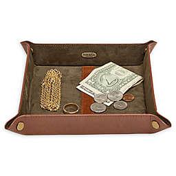 Mele & Co. Weston Jewelry Box in Cognac Faux Leather