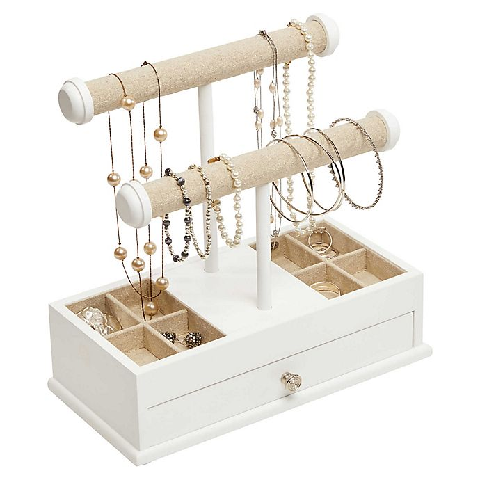 Alternate image 1 for Mele & Co. Ivy Jewelry Box & Organizer in White