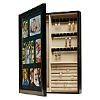 Mele & Co. Leighton Photo Jewelry Cabinet in Java