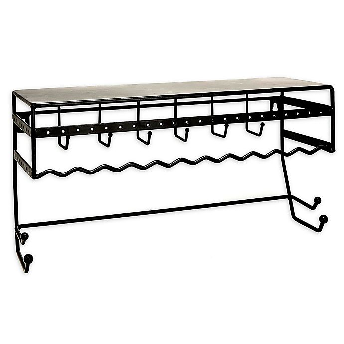 Alternate image 1 for Simplify Wall Mount Jewelry & Accessory Organizer in Black