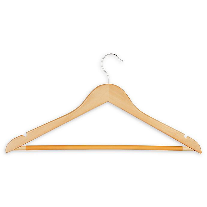 Alternate image 1 for Honey-Can-Do® Wood Suit Hangers in Maple (Set of 10)
