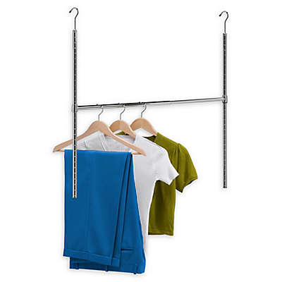 Honey-Can-Do® 35-Inch Adjustable Hanging Closet Rod in Chrome<br />