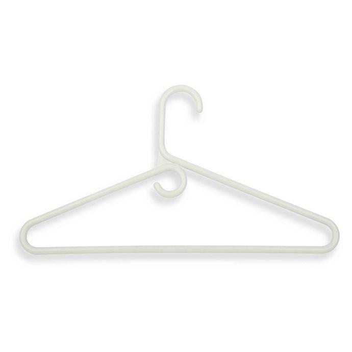 Alternate image 1 for Honey-Can-Do® Heavy-Duty Plastic Tubular Hangers in White (Set of 18)