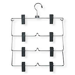 Honey-Can-Do® 4-Tier Skirt Hangers with Clips in Chrome/Black (Set of 2)