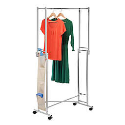 Honey-Can-Do® 36-Inch Square Tube Folding Garment Rack in Chrome with Shoe Organizer