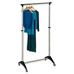 Honey-Can-Do® 33-Inch Adjustable Rolling Garment Rack in Chrome