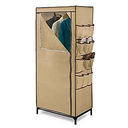 Honey-Can-Do® 27-Inch Cloth Storage Wardrobe with Shoe Organizer in Khaki