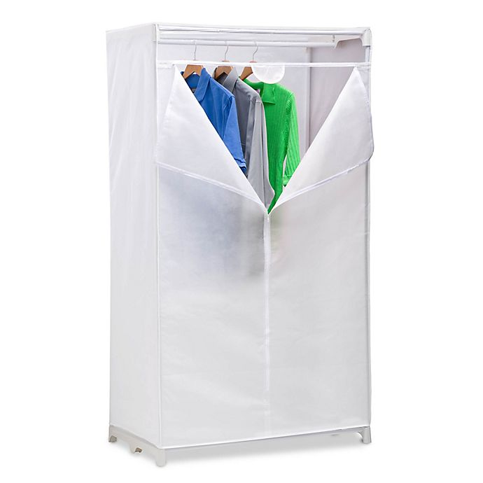 Alternate image 1 for Honey-Can-Do® 36-Inch Cloth Garment Wardrobe in White