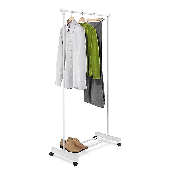 Alternate image 1 for Honey-Can-Do® 35-Inch Portable Garment Rack in White