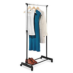 Honey-Can-Do® 35.4-Inch Adjustable-Height Rolling Garment Rack in Chrome/Black