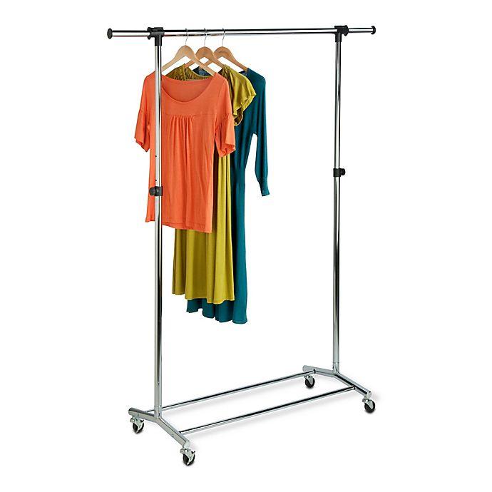 Alternate image 1 for Honey-Can-Do® Commercial Garment Rack in Chrome/Black