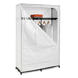 Honey-Can-Do® 46-Inch Cloth Storage Wardrobe with Shelf in White
