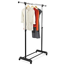 Honey-Can-Do® 50-Inch Expandable Rolling Garment Rack in Black/Chrome