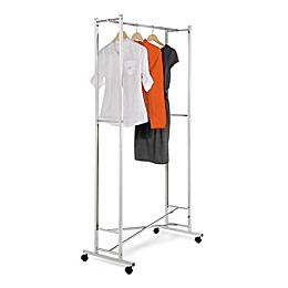Honey-Can-Do® 34-Inch Square Tube Portable Folding Garment Rack in Chrome