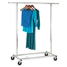 Honey-Can-Do® 74-Inch Collapsible Commercial Rolling Garment Rack in Chrome