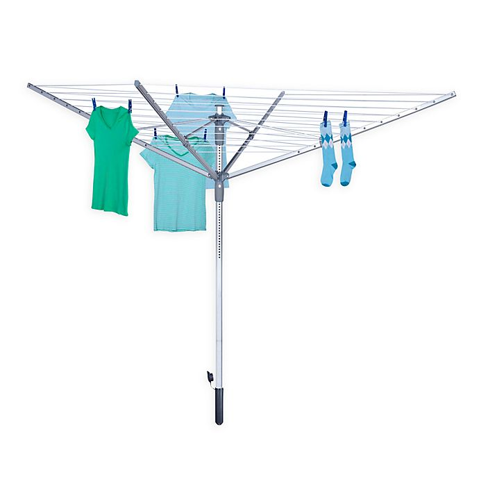 Alternate image 1 for Honey-Can-Do® Outdoor Umbrella Dryer in Silver