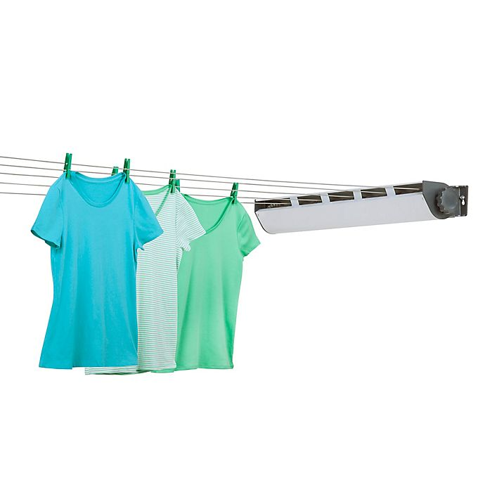 Honey Can Do 5 Line Retractible Outdoor Clothes Drying Line In