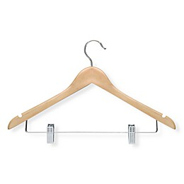 Honey-Can-Do® 12-Pack Wooden Basic Suit Hangers with Clips