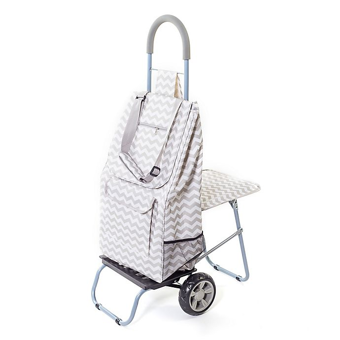 Alternate image 1 for Trolley Dolly Laundry Cart with Seat