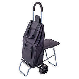 Trolley Dolly Laundry Cart with Seat