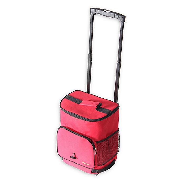 Alternate image 1 for Smart Cart Ultra Compact Cooler in Red