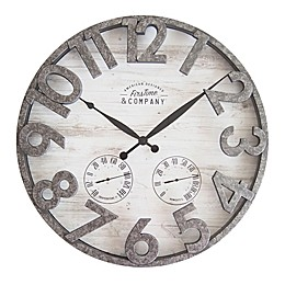 FirsTime® Shiplap 18-Inch Outdoor Wall Clock