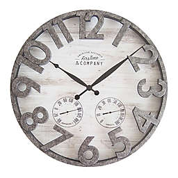 Firstime Shiplap 18 Inch Outdoor Wall Clock