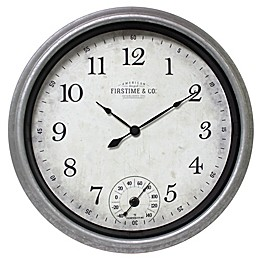 FirsTime® Rustic 14-Inch Porch Wall Clock