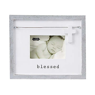 Mud Pie® Blessed 3.5-Inch x 5-Inch Picture Frame in Cream