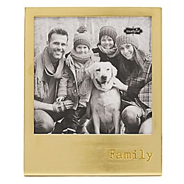 Mud Pie® Family 6-Inch x 6-Inch Metal Easel Frame in Gold