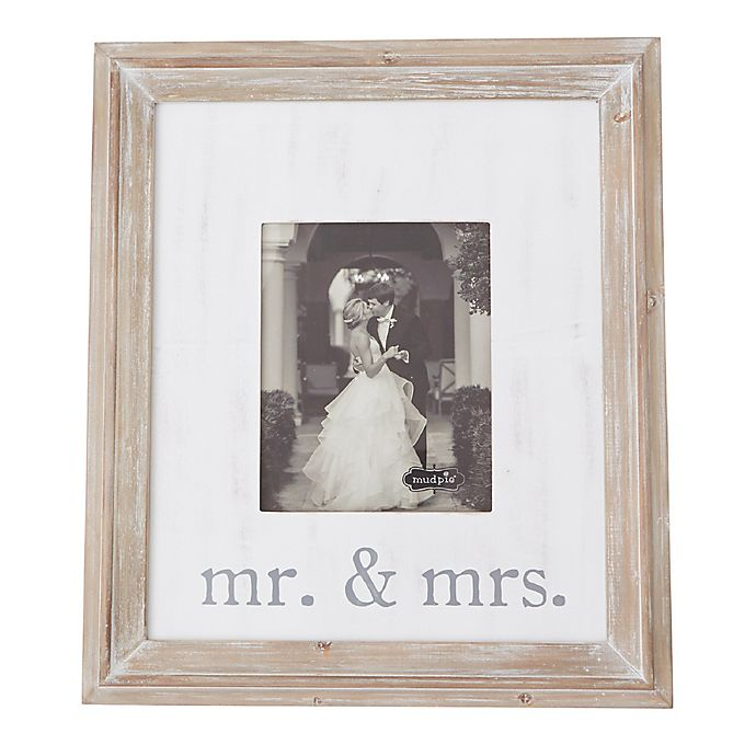 Alternate image 1 for Mud Pie® Mr. And Mrs. 8-Inch x 10-Inch Wood Picture Frame