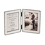 Mud Pie® Beaded Announcement 5-Inch x 7-Inch Double Picture Frame