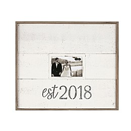 Mud Pie® Est 2018 4-Inch x 6-Inch Picture Frame With Tin Lettering
