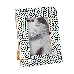 Mud Pie® Blue Circular Print Rectangular Bone 6-Inch x 4-Inch Picture Frame