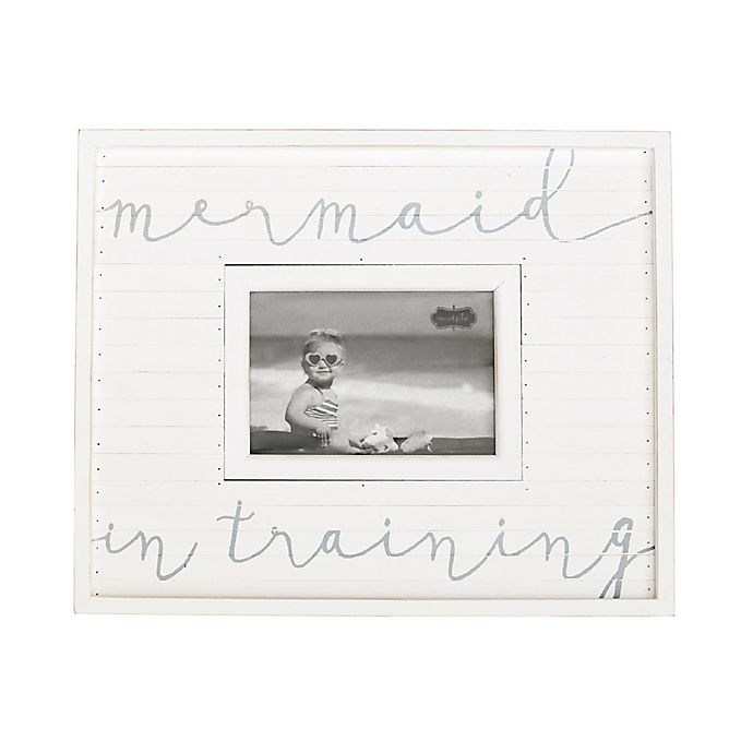 Mud Pie® Mermaid In Training 4.75-Inch x 2.75-Inch Picture Frame ...