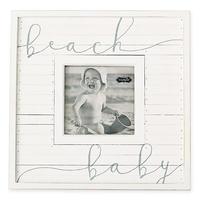 Alternate image 1 for Mud Pie® Beach Baby 3.75-Inch Square Picture Frame