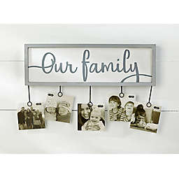 Mud Pie® Our Family 5-Clip Photo Holder
