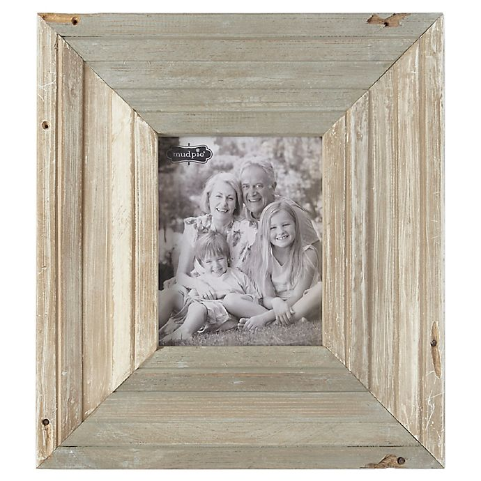 Alternate image 1 for Mud Pie® 8-Inch x 10-Inch Reclaimed Wood Picture Frame