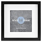 Gallery 8-Inch x 8-Inch Matted Wood Picture Frame with Black Painted Finish