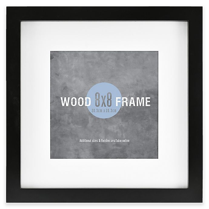 Alternate image 1 for Gallery 8-Inch x 8-Inch Matted Wood Picture Frame with Black Painted Finish