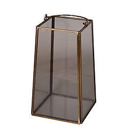 Metal/Glass Candle Lantern in Bronze