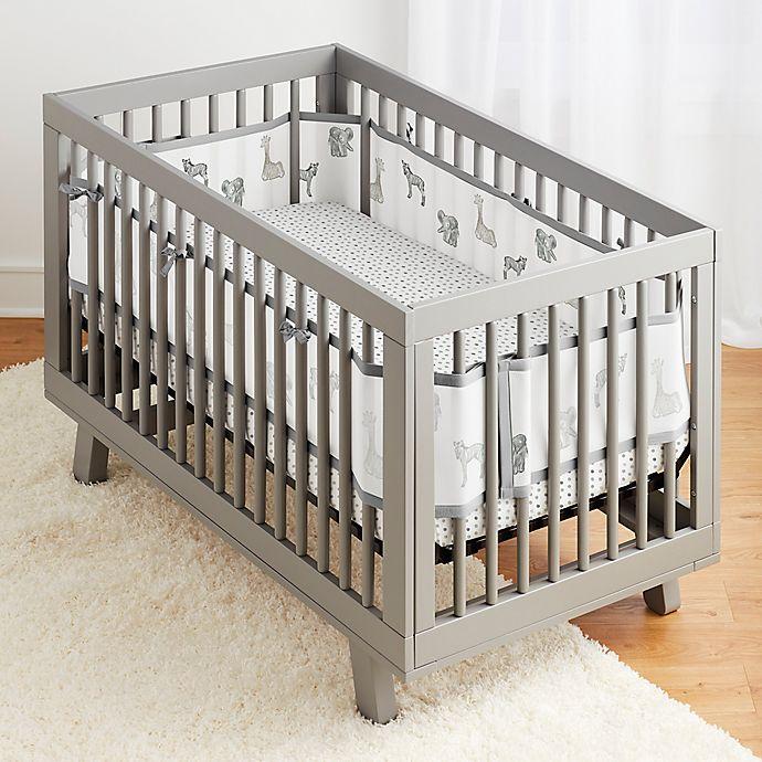 Alternate image 1 for BreathableBaby® 3-Piece Watercolor Safari Crib Bedding Set